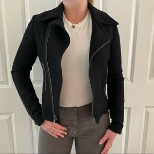 Nili Lotan Black Moto Jacket